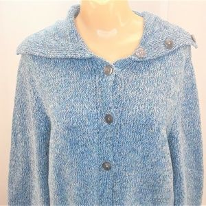 Crazy Horse Button Front Cardigan Sweater Womens M